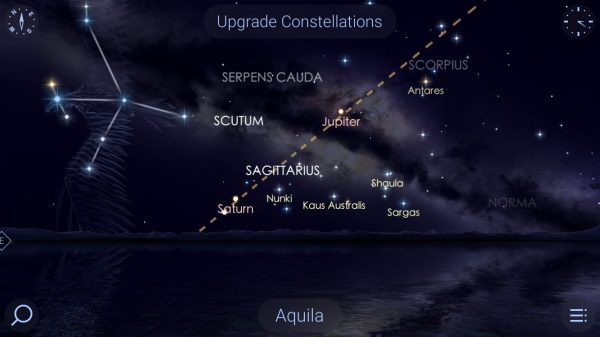 Star Walk 2 app augmented reality view