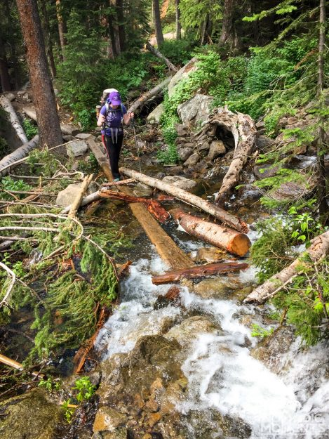 Washed out Cascade Creek trail