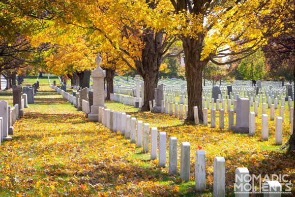 Visiting Arlington National Cemetery in Autumn.