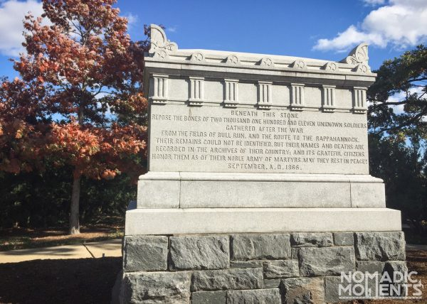 When Visiting Arlington seek out the Civil War Unknown Monument.