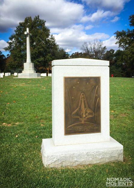 Space Shuttle Columbian Memorial at Arlington National Cemetery.