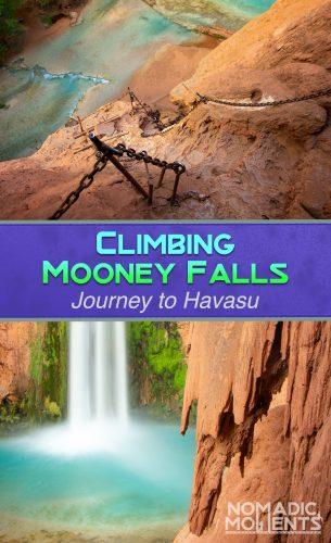 Climbing Mooney Falls