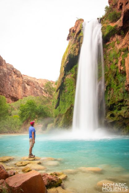 Hiker at Havasu Falls