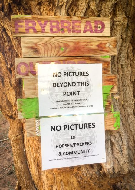 No Pictures in Supai