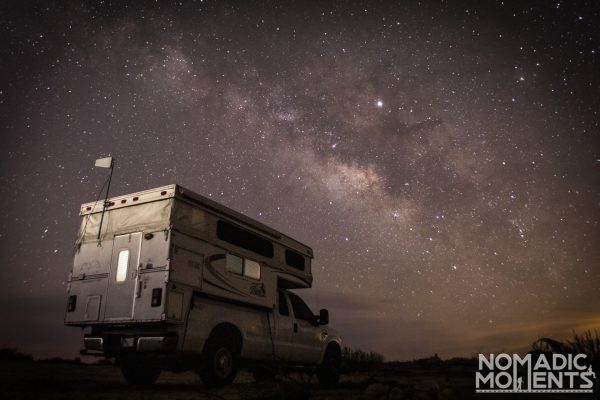 Truck Camper and the Milky Way Galaxy