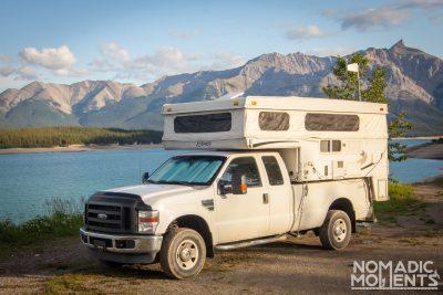 Camping at Abraham Lake