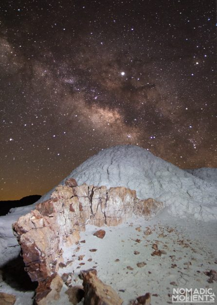 The Milky Way and Petrified Wood