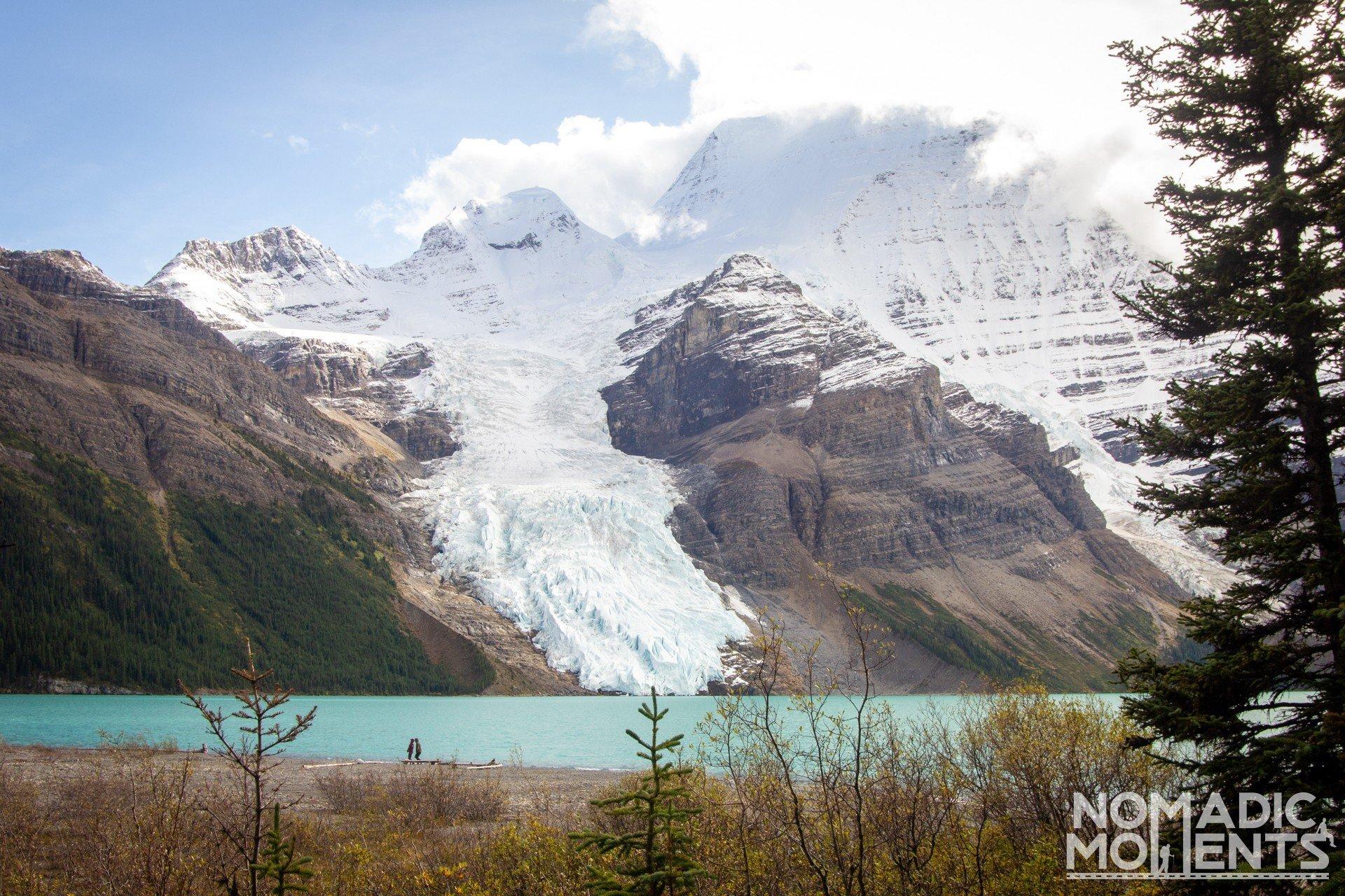 Berg Lake Campsite View
