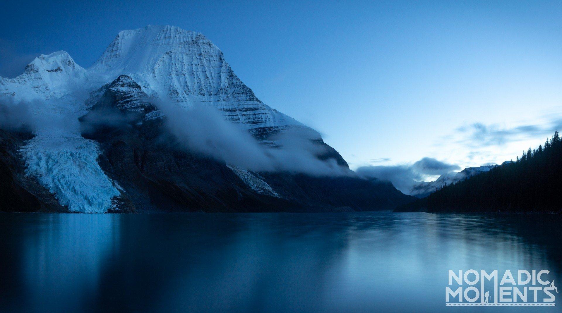Berg Lake Evening Glow