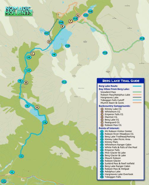 Berg Lake Trail Guide Map