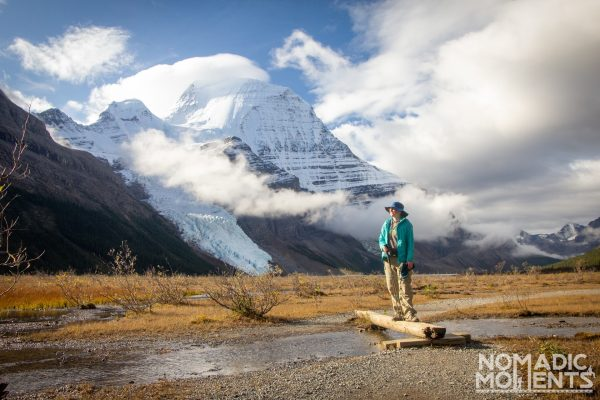 Hiker at Berg Lake