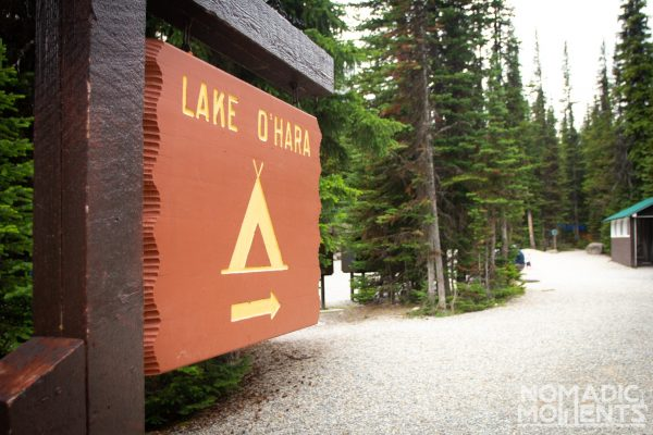 Lake O'Hara Camping Sign