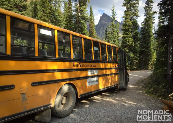 Lake O'Hara Camping Bus