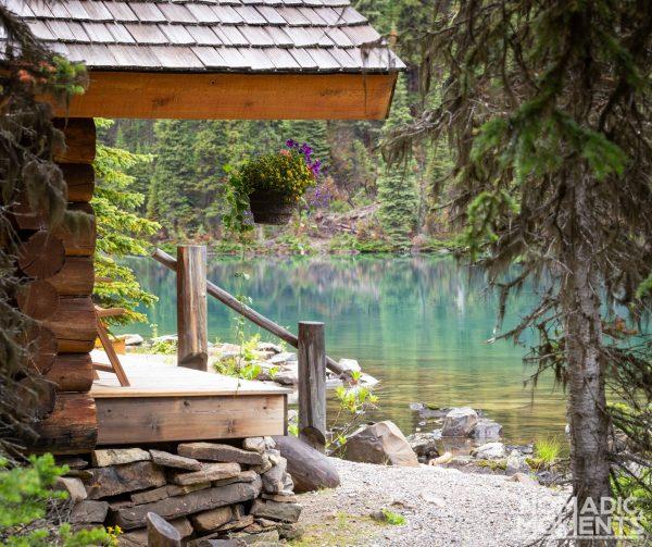 Lake O'Hara Camping - A Lakeshore Cabin