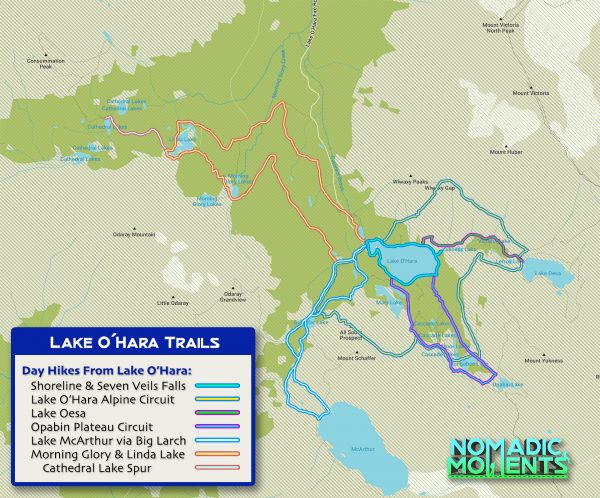 Lake O'Hara Trail Map