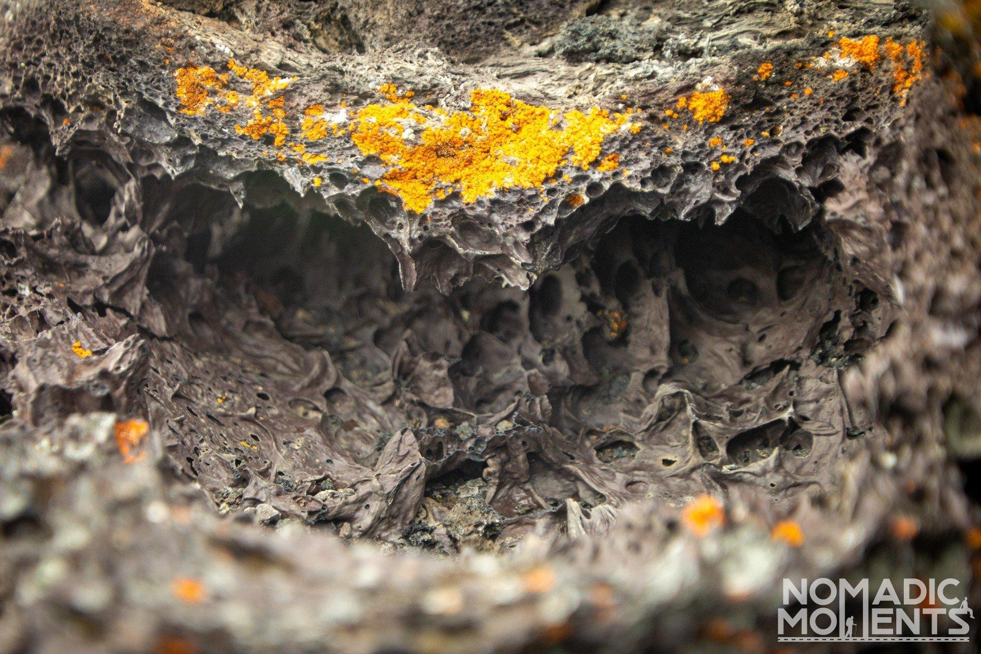 Lava Pitting & Lichen