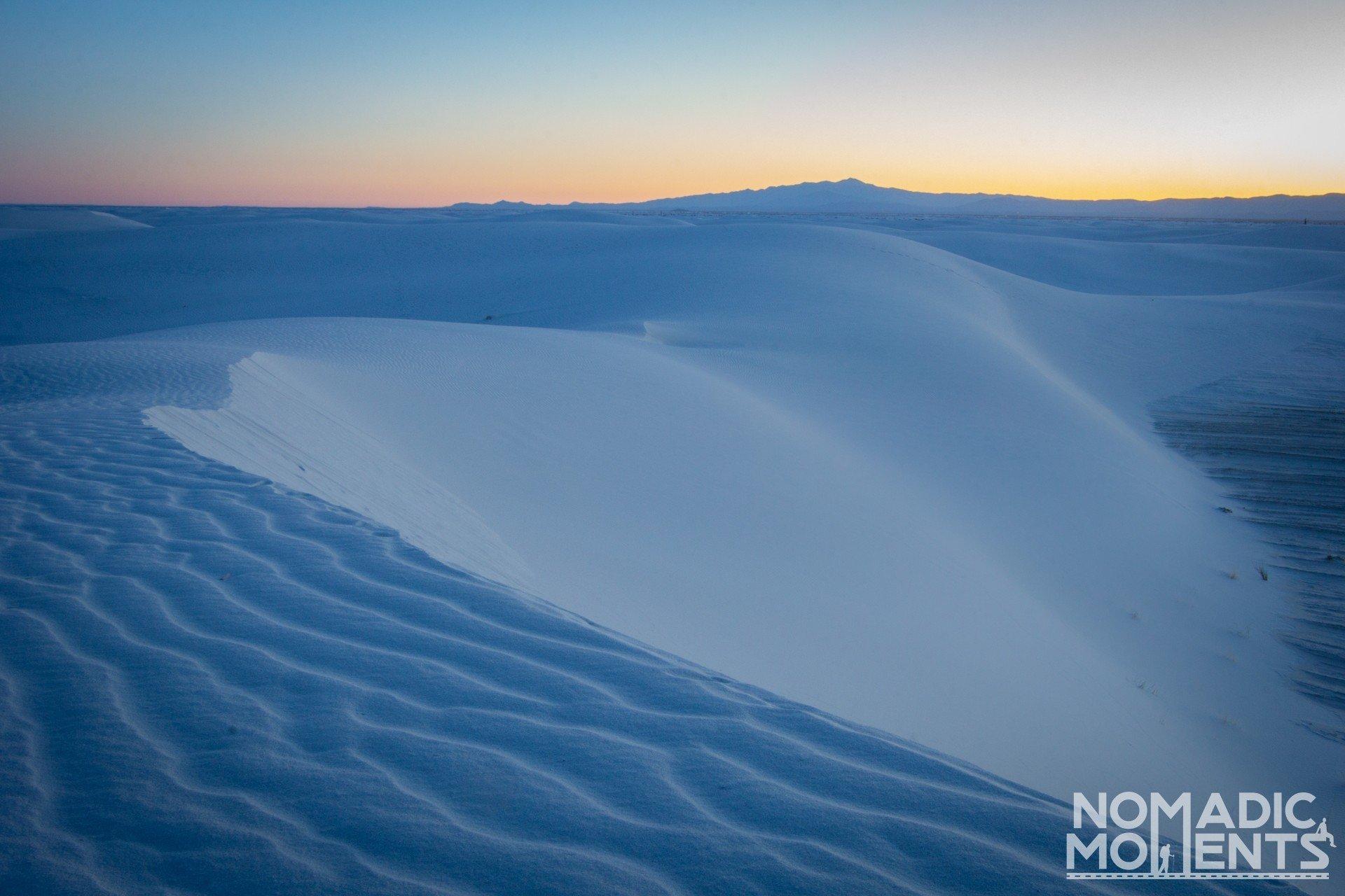 Memorable Nomadic Moments - White Sands National Park Sunrise