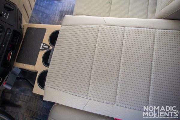The upholstered armrest