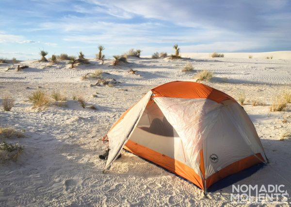 Camping in White Sands National Park