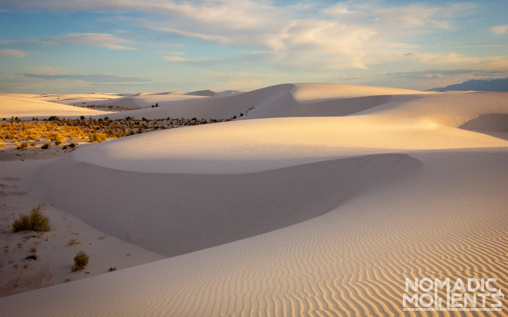 Sunrise at White Sands National Park