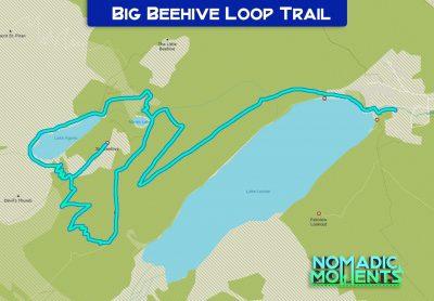 Big Beehive Loop Trail Map