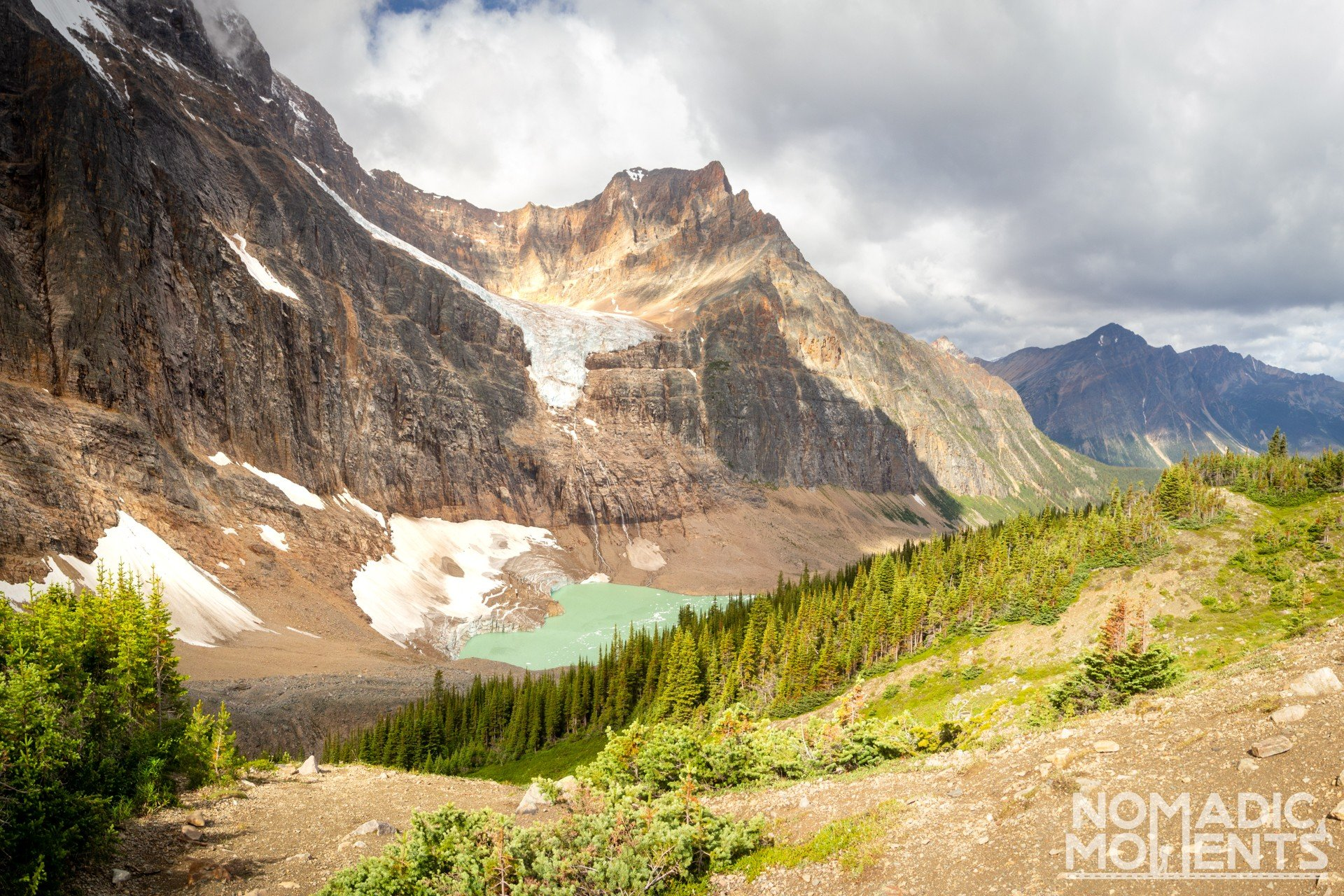 Edith Cavell Meadows Trail First Overlook