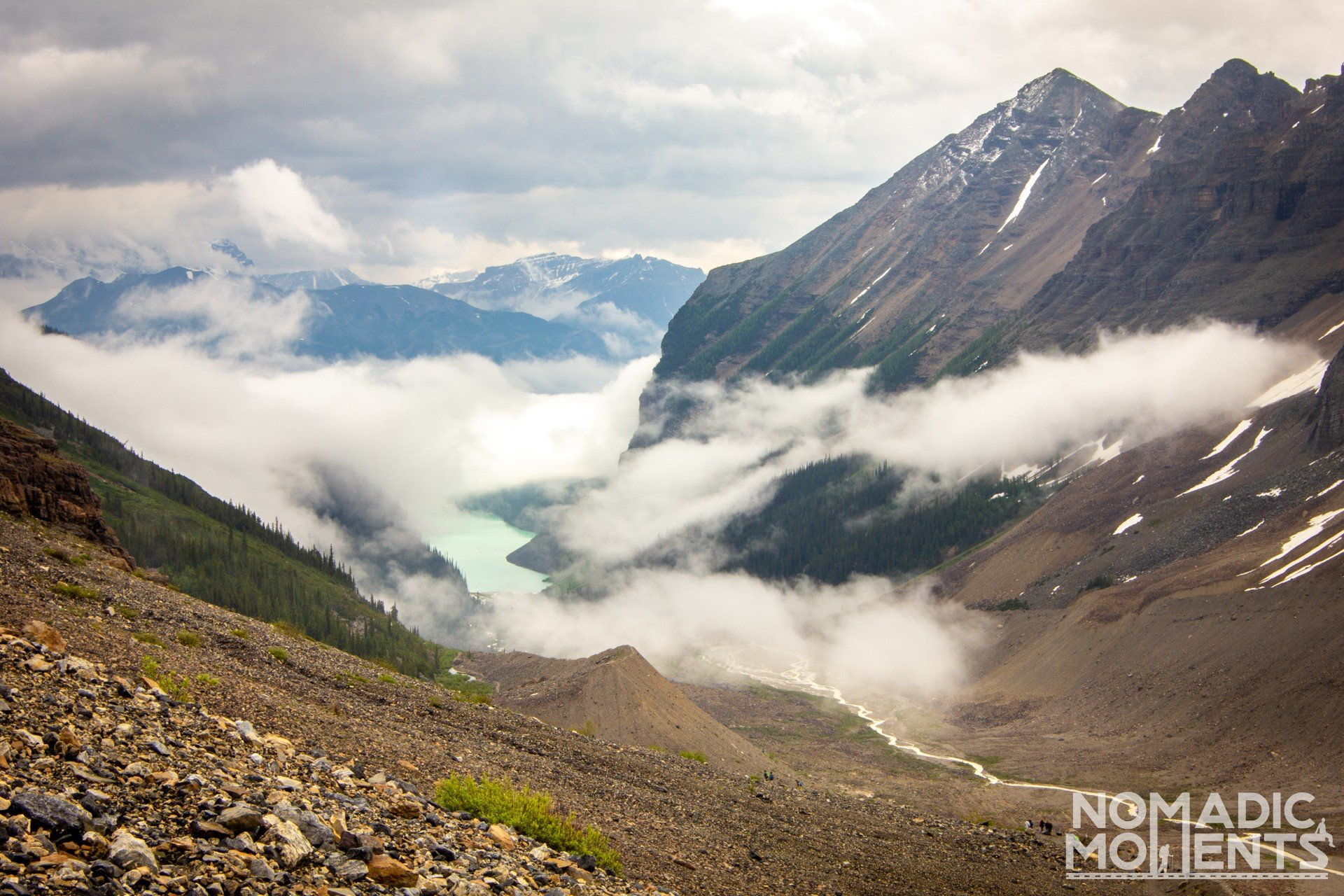 Lake Louise in the Clouds