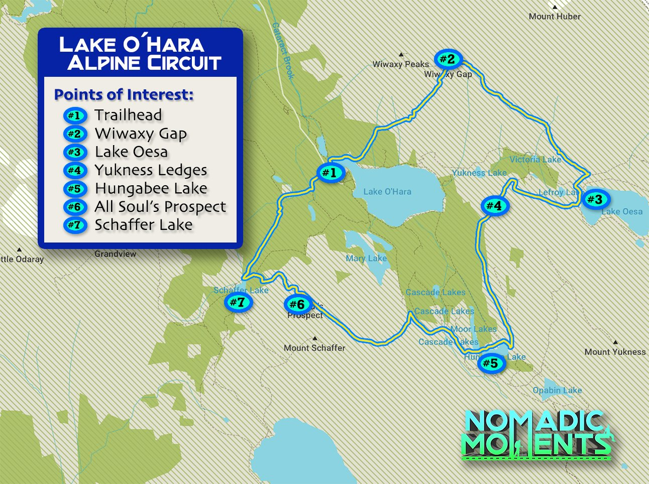 Lake O'Hara Alpine Circuit Map