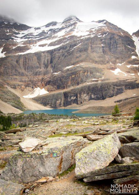 Trail Markers on the Lake O'Hara Alpine Circuit