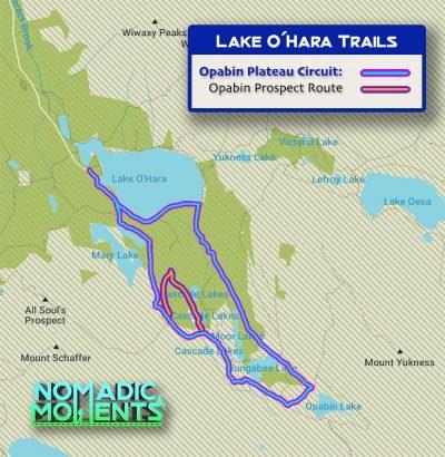 Opabin Plateau Circuit Map
