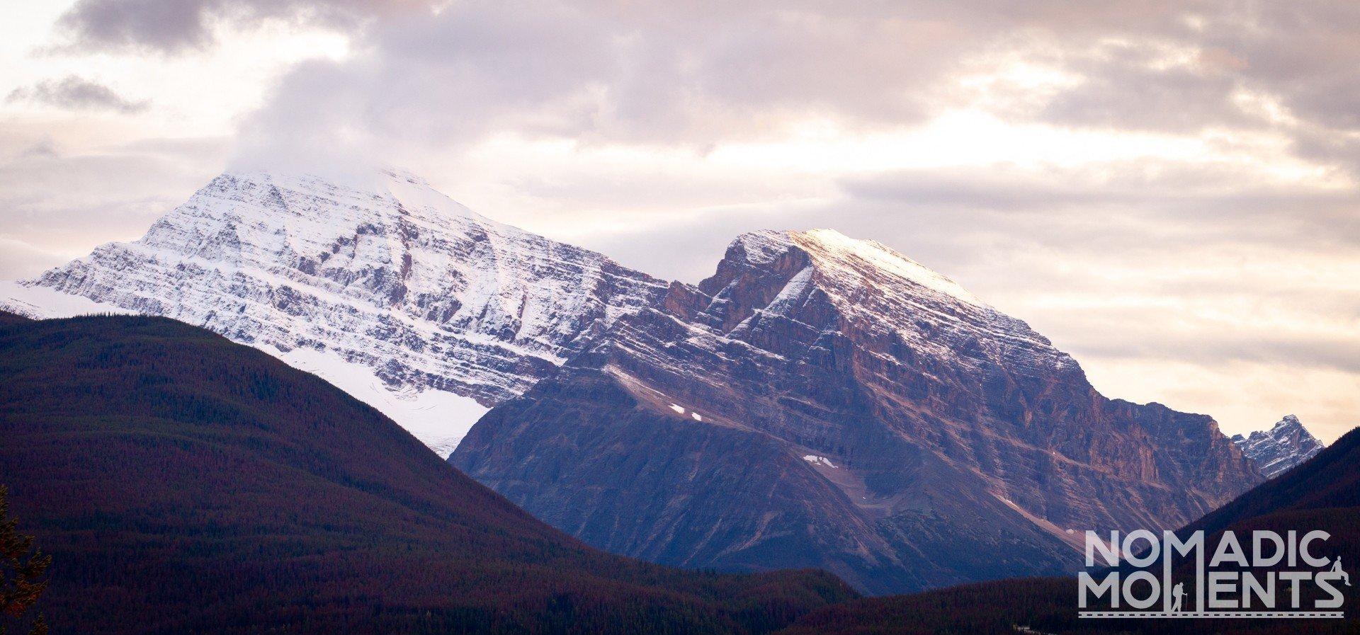 Sunset on Mount Edith Cavell