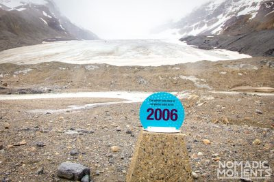 Toe of the Athabasca Glacier Trail Signs