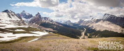 Icefields Parkway from Parker Ridge