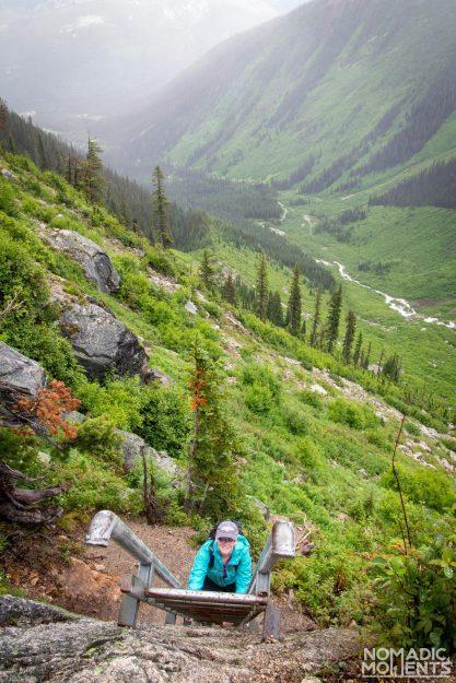 Kain Hut Ladder - Hiking Bugaboo Provincial Park