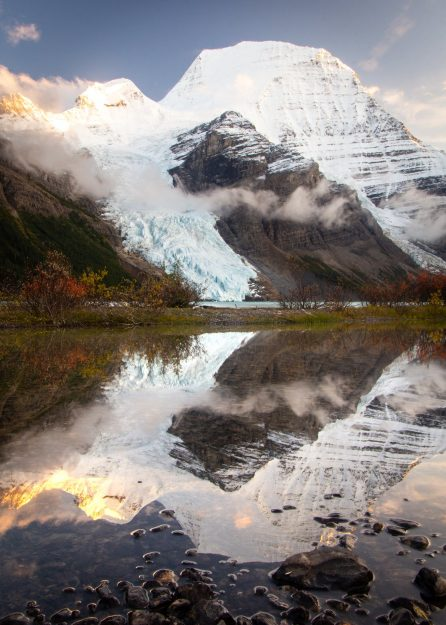 Mount Robson Reflection at Berg Lake