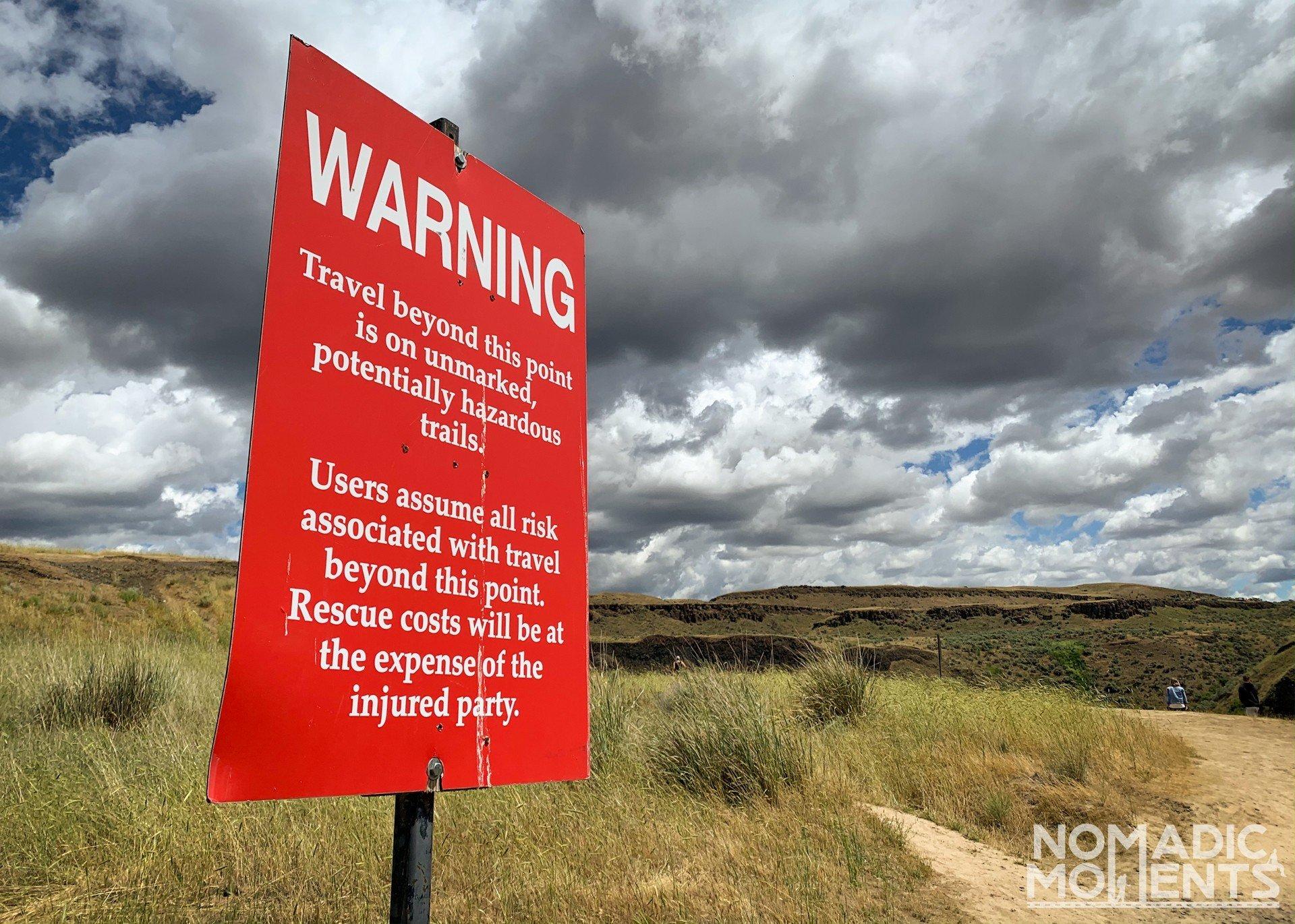 Palouse Warning