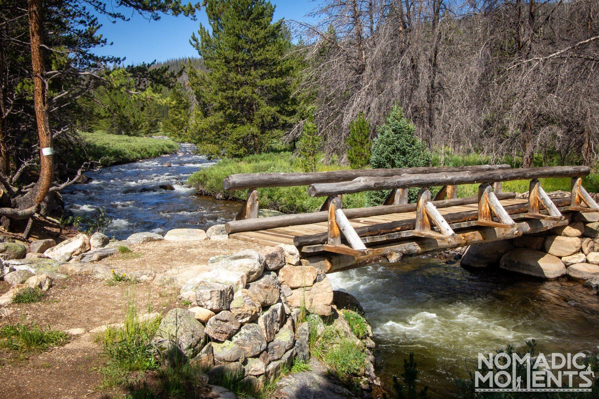 Bridge to Rocky Mountain National Park