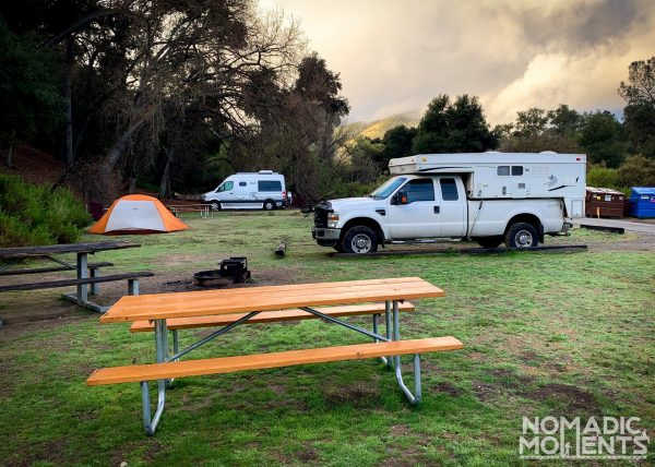 Campsite - Visiting Pinnacles National Park