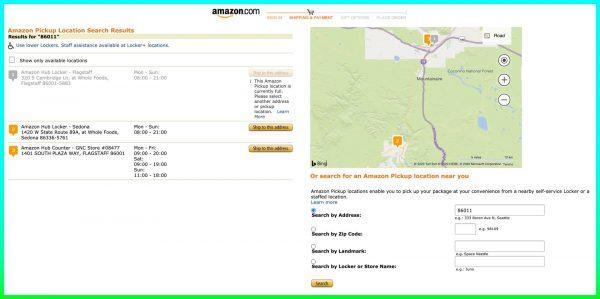 Amazon Pickup Map