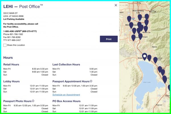 Post Office Locations