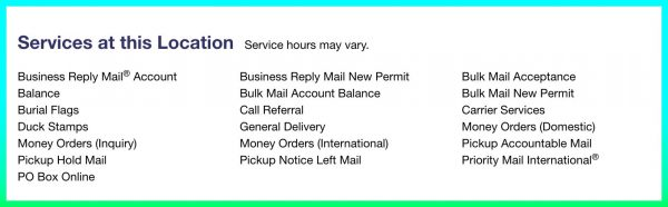 USPS Location Services