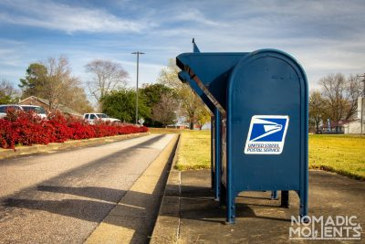 Receive Mail While Traveling USPS drop box