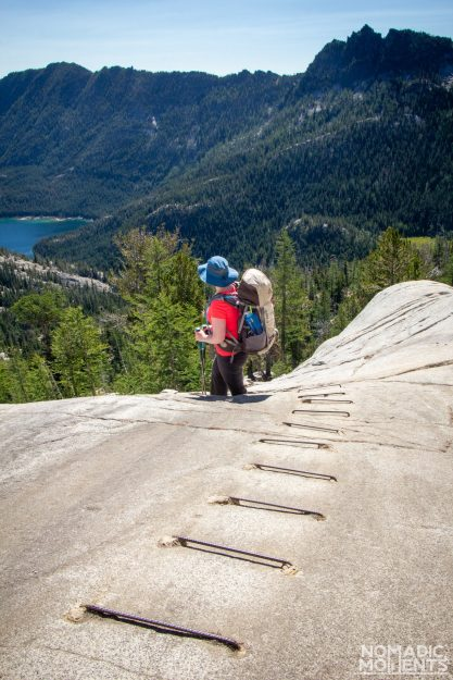 Iron Bars above Lake Viviane - Backpacking The Enchantments