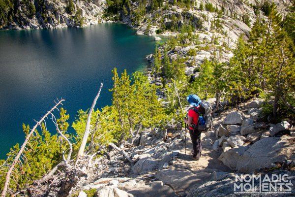 Overlooking Viviane - Backpacking The Enchantments