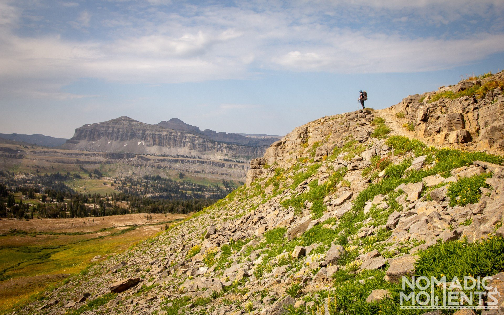 Exploring the Teton Crest Trail above the Alaska Basin