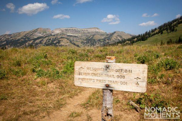 Start of the Teton Crest Trail