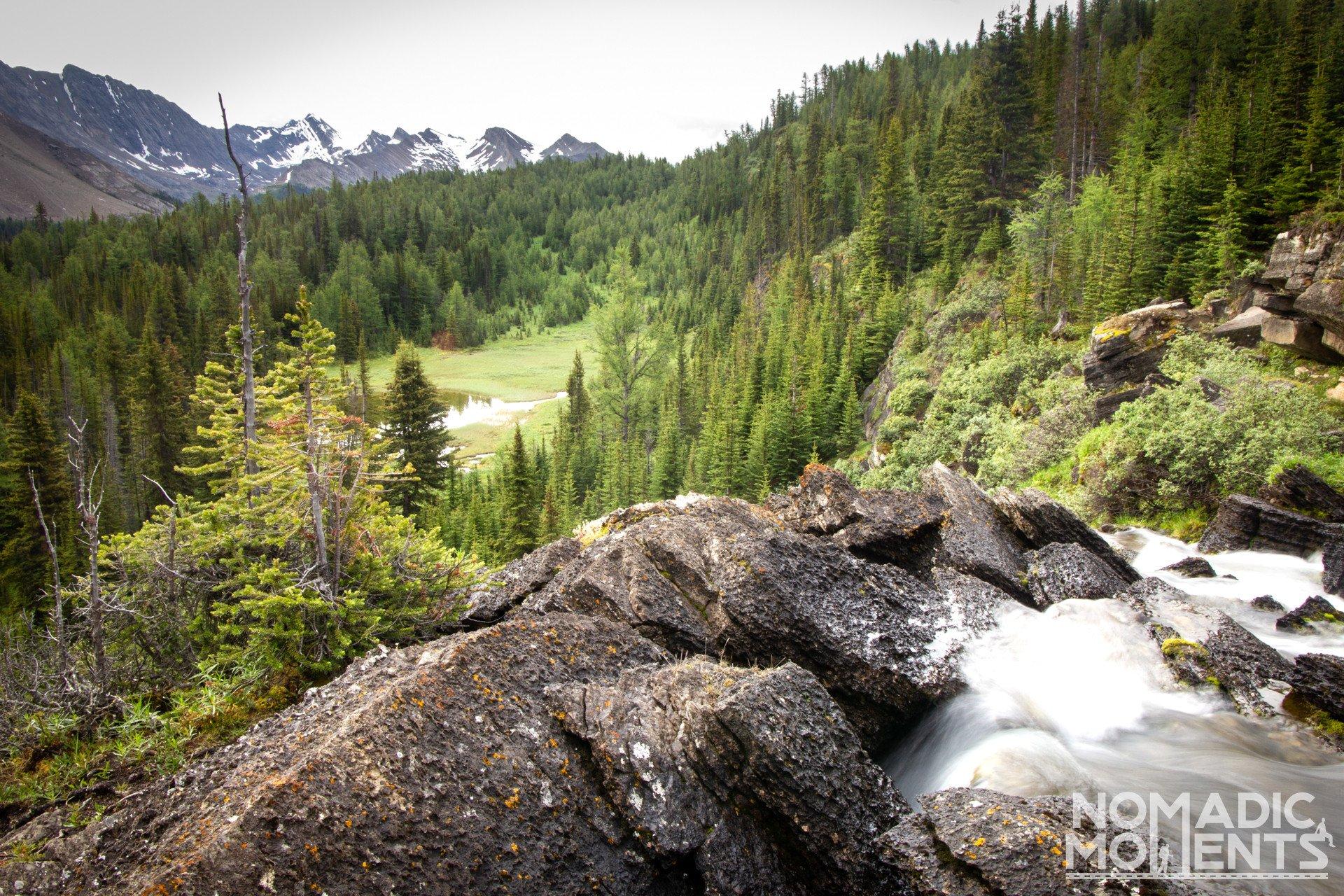 Baker Lake Waterfall Overlook