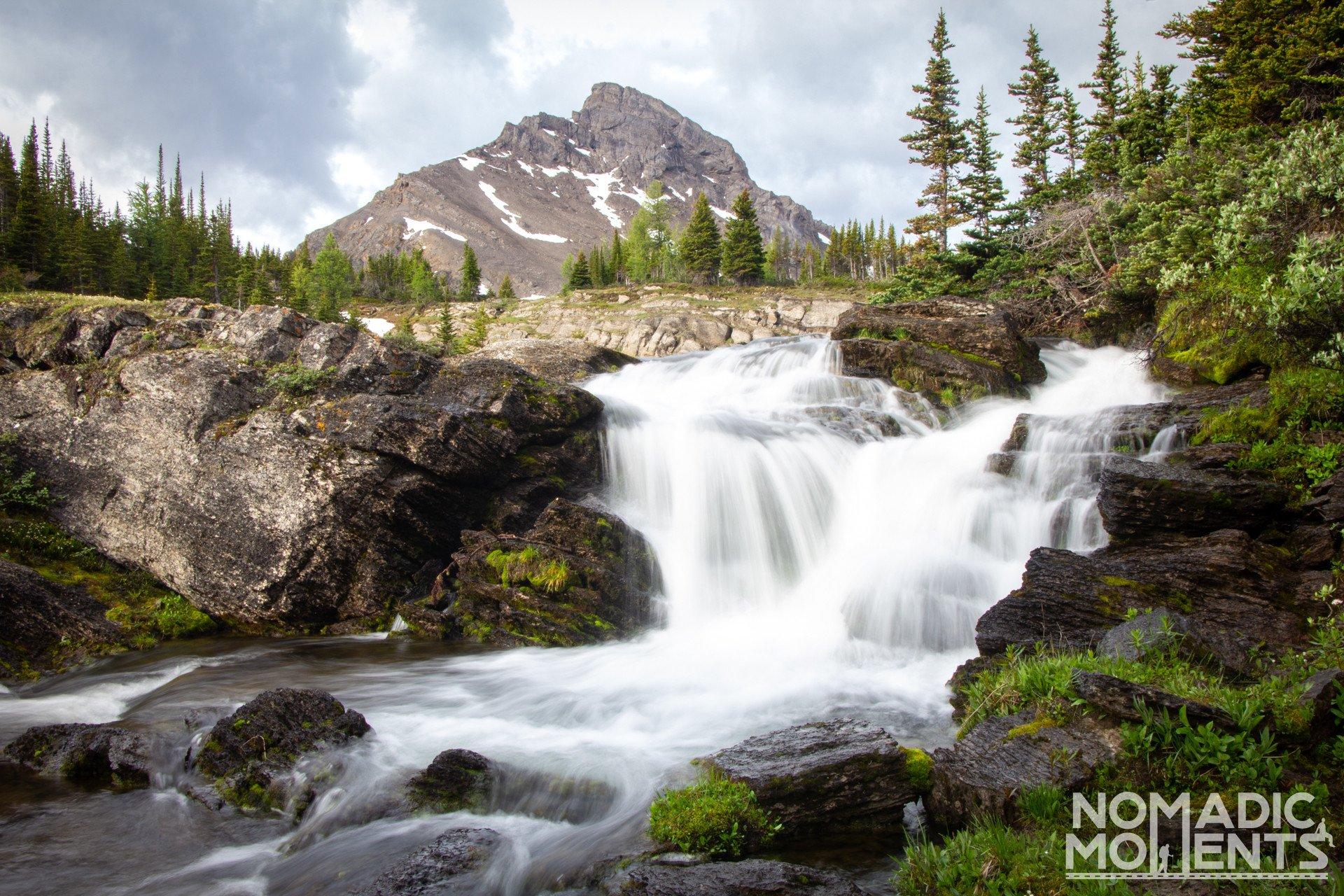 Baker Lake Waterfall and Brachiopod Mountain