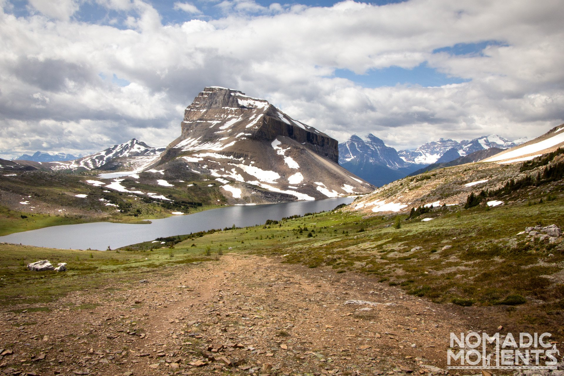 Mount Redoubt and Ptarmigan Lake from Packer Pass