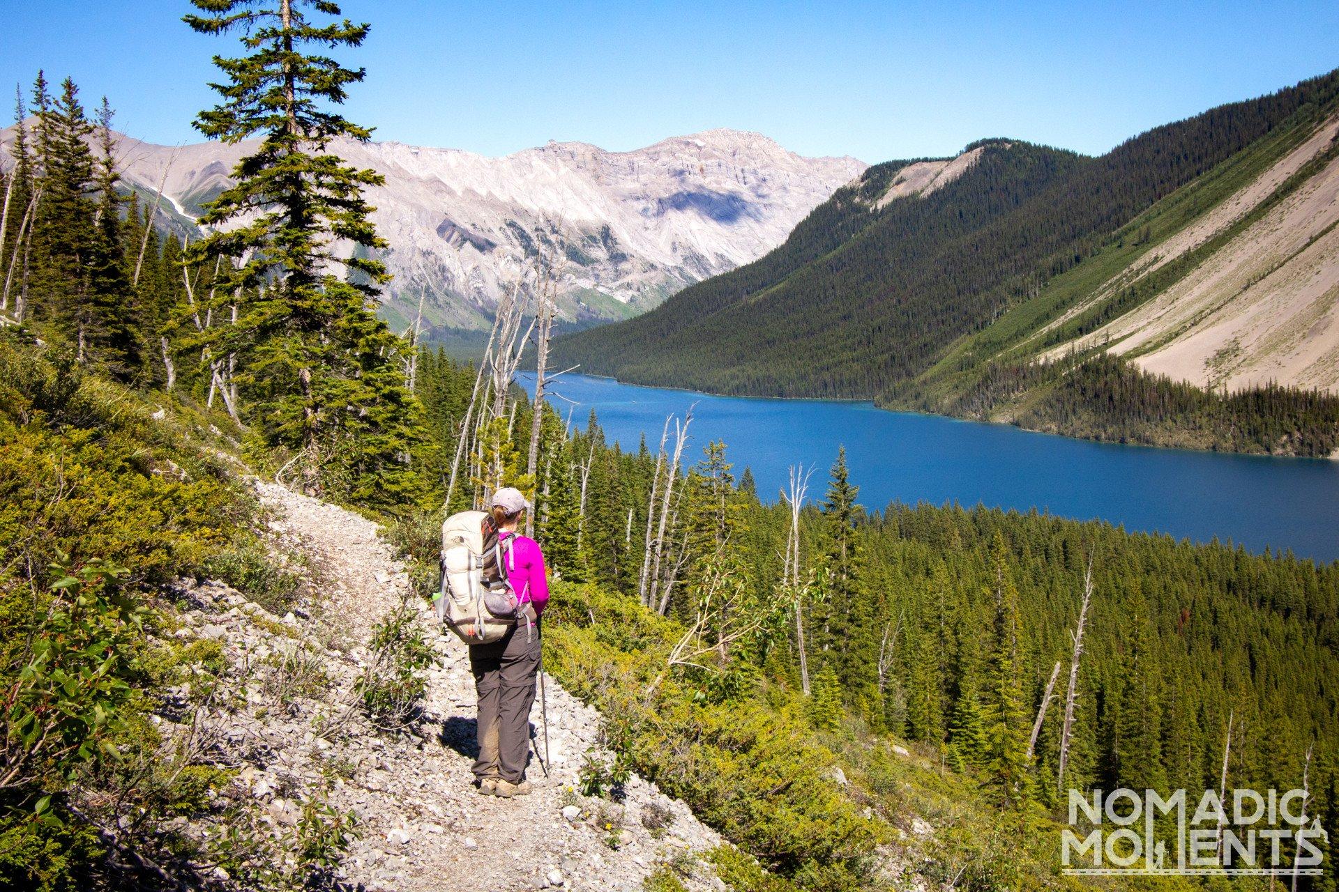Above Marvel Lake - Assiniboine via Wonder Pass